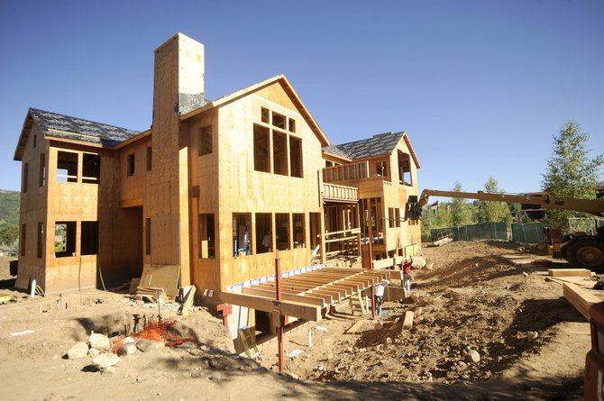 Construction sites like this one at The Porches are not as prevalent as they were a couple years ago. Recent staff layoffs at the Routt County Regional Building Department are another indication of a slow building season.
