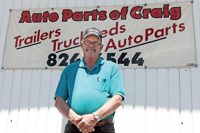 Dick King, owner of Auto Parts of Craig, stands in front of his store Friday at 1875 W. Victory Way. King is also an avid trap shooter and travels around the country for competitions.