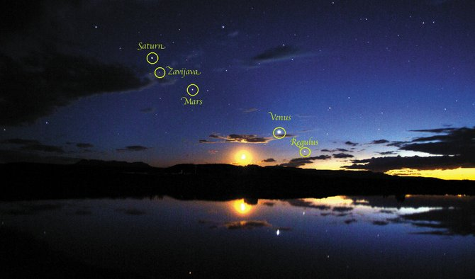July offers an array of action in the night skies from several stars and planets that are clearly visible despite the brightening moon that culminates in Sundays full moon. 