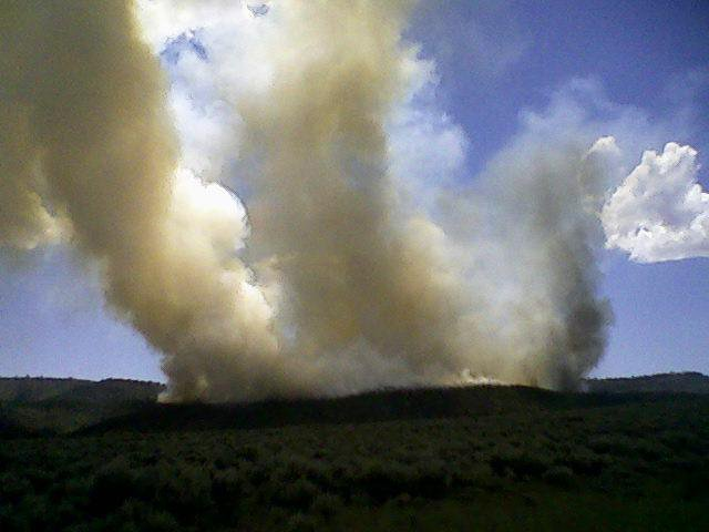 The Logging Fire, located on the east side of Douglas Mountain, is burning on about 1,144 acres. It is one of several fires crews are battling in western Moffat County and parts of Rio Blanco County. Lightning is believed to be the cause behind the fires.