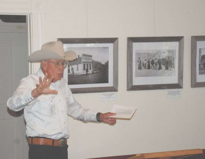 South Routt historian Paul Bonnifield discusses the social forces that led to the removal of the Northern Utes from the White and Yampa river valleys Friday at the  Tread of Pioneers Museum.
