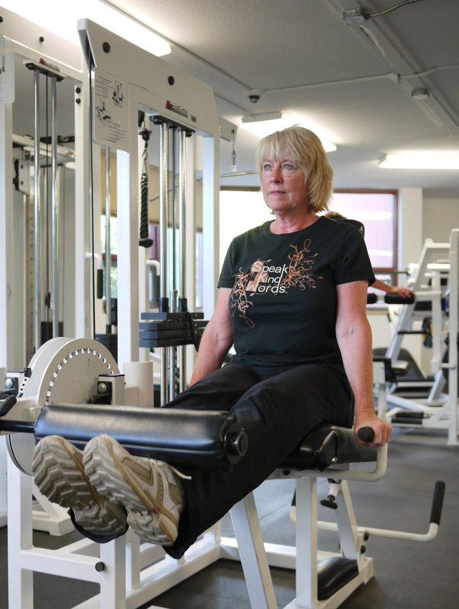 Karen Kellogg works through her routine during a basic weight training class at Colorado Mountain College. Local colleges, gyms, fitness studios and programs such as Aging Well offer a range of opportunities helping older adults reap the many benefits of regular strength training.