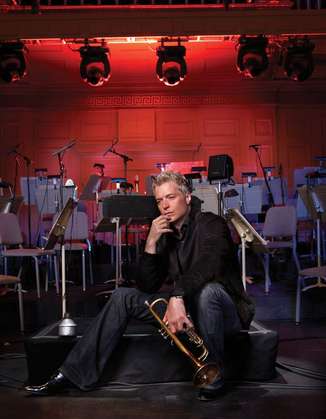 Jazz trumpetist Chris Botti will play at 8 p.m. today at Strings Music Pavilion. Tickets are sold out, but lawn tickets will be available at the Strings Music Festival box office for $45 starting at 9 a.m.