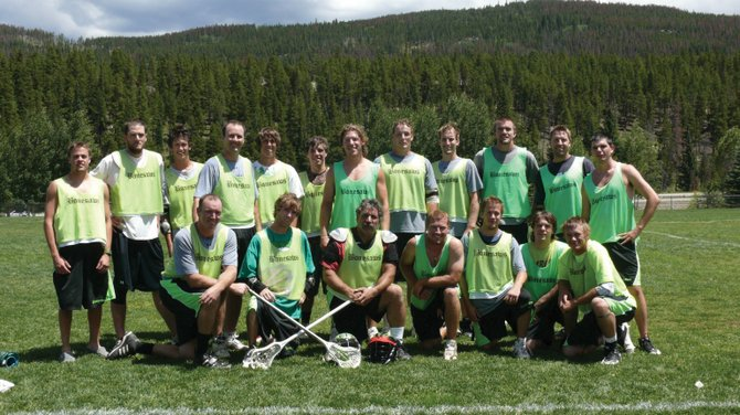 The Steamboat Springs men's lacrosse team includes, back row from left, Jake Flax, David Morris, Kevin Bertrand, Mike Cosby, Brian Bertrand, Braxton Campbell, Nate Goertz, Gus Worden, Joseph Lauber, Sam Lane, Jay Walker and Jonathan Mattes-Ritz; and front row from left, Todd Wichelhaus, Scott Forney, Kevin Nerney, Conor Barrett, Andy Flax, Sean Forney and Jasper Gantick.