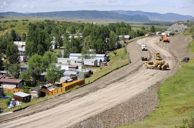 Residents of the West Acres Mobile Home Park, pictured to the left of Gossard Parkway, which is under construction, had a legal victory Thursday when the Colorado Court of Appeals reversed an earlier District Court ruling in Steamboat Springs regarding the land being used for the new road.