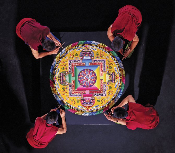 The Drepung Loseling monks will begin creating a sand mandala like this one Saturday at Bud Werner Memorial Library. Opening ceremonies are at 11 a.m.