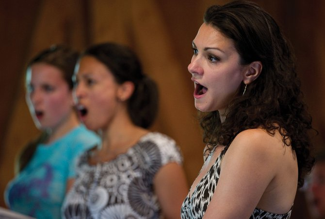 "Sandra Piques Eddy, who will play Carmen, rehearses her part Tuesday at the Perry-Mansfield Performing Arts School and Camp. Emerald City Opera will present ""Carmen"" on Thursday at Strings Music Pavilion as part of the Steamboat All Arts Festival."