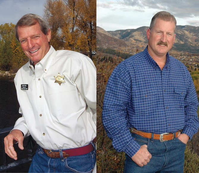 Gary Wall, left, and Garrett Wiggins will face off in November's Routt County sheriff race.