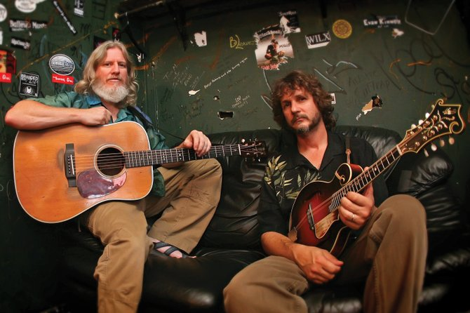 Bill Nershi, left, of the String Cheese Incident, and Drew Emmitt, right, of Leftover Salmon, play at the Free Summer Concert Series at 7 p.m. today on Howelsen Hill as the Emmitt-Nershi Band.