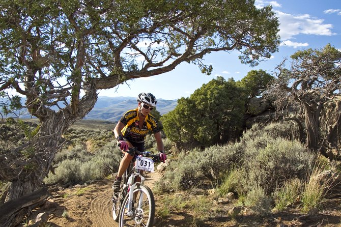 Steamboat Springs resident Kris Cannon rides in the 24 Hours in the Sage last weekend in Gunnison. Cannon complete 16 laps around a 13-plus mile course to win the solo women's division.