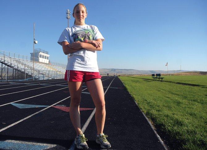 Hayden High School sophomore Savannah Williams runs cross country for Moffat County High School. Williams, a sophomore, said she became interested in cross country after finishing 13th in the 3,200-meter run during last May's 2A state track and field meet.