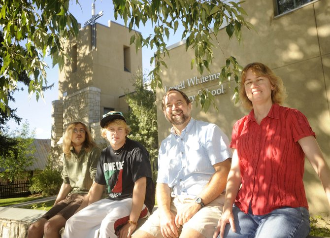 Lowell Whiteman Primary School music teacher Mary Anne Fairlie, her husband, John, and two sons, Sean, left, and Martin said they feel fortunate to have landed in Steamboat Springs after Hurricane Katrina ravaged their home city of New Orleans five years ago.