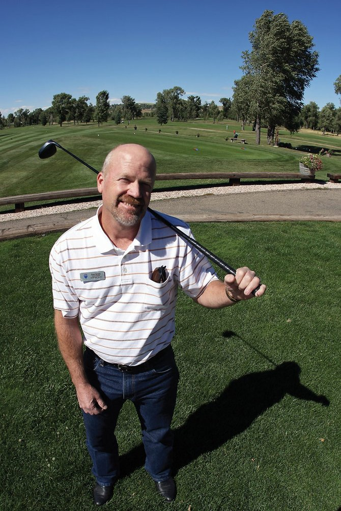 Steve Herman, pictured, along with teammates Bob Markham and Dave Peterson, golfed 54 holes Saturday at Yampa Valley Golf Course during the third annual Bear River Young Life Golf Tournament. The trio raised more than $3,800 during their marathon golf session.