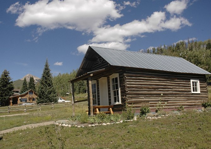 A ribbon-cutting for the historic Wither cabin, which is restored and open to the public, is at 2:30 p.m. Sunday in Hahn's Peak Village, during the Arts, Crafts and Collectibles Fair.