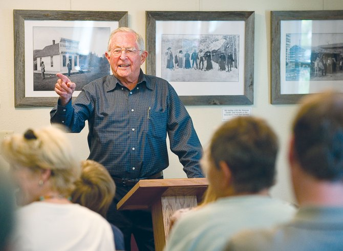 Bob Allen, the son of longtime Steamboat Springs businessman and former mayor George Allen, spoke at the Tread of Pioneers Museum's Brown Bag Lunch Series on Friday. The Allen family will be featured in the Tread of Pioneers Museum's Foundations of Steamboat Series with an exhibit that debuts Oct. 7 and will remain in place for a year.