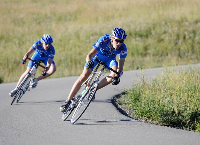 Jeffrey Gay, a 17-year-old member of the Steamboat Springs Winter Sports Club's elite cycling program, races Saturday during the second stage of the second annual Steamboat Springs Stage Race at Marabou Ranch.