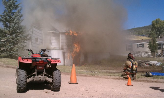 Oak Creek Fire Protection District crews train in Oak Creek on Saturday afternoon.