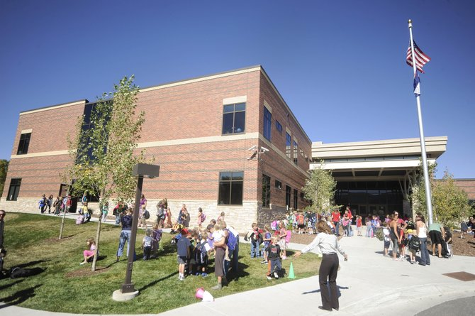 Soda Creek Elementary School students leave school Thursday afternoon. Enrollment in the Steamboat Springs School District has increased by about 3 percent.