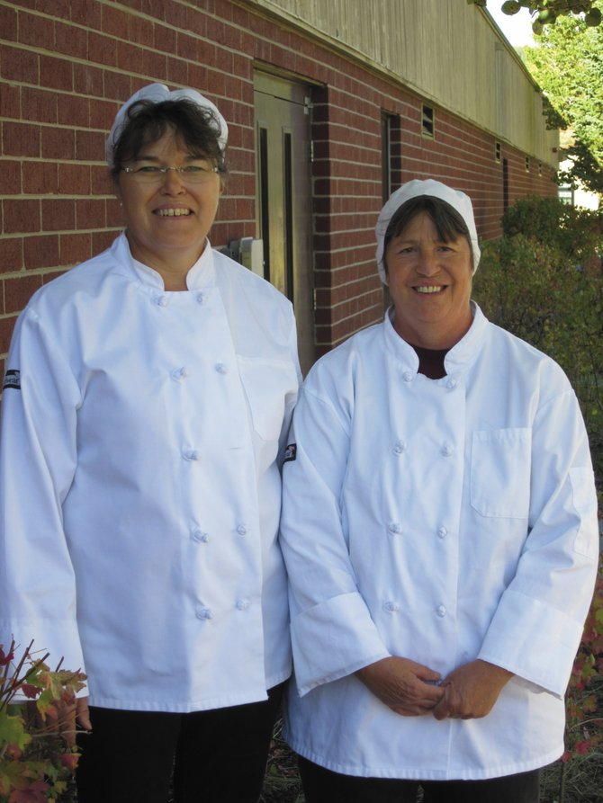 South Routt School District Food Service Manager Charlotte Whaley, left, and cook Susan Schaffner attended a culinary boot camp in Montrose this summer.