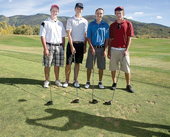 The Steamboat Springs High School golf team, which includes from left, Patrick Weston, Alan Capistron, Isiah Forsyth and Skyler Martin, will play at Montose today in the regional golf tournament at Cobble Creek golf course.