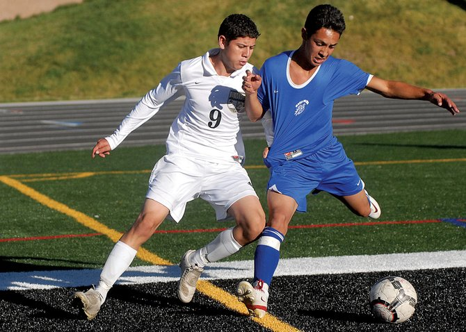The Moffat County High School boys varsity soccer team loses a close game Tuesday to Battle Mountain High School, 2-3. The loss is the first of the season for MCHS, leaving their record 6-1-0 overall, and 2-1 in the Western Slope League, ranked second to undefeated Battle Mountain (5-0-0 overall).
