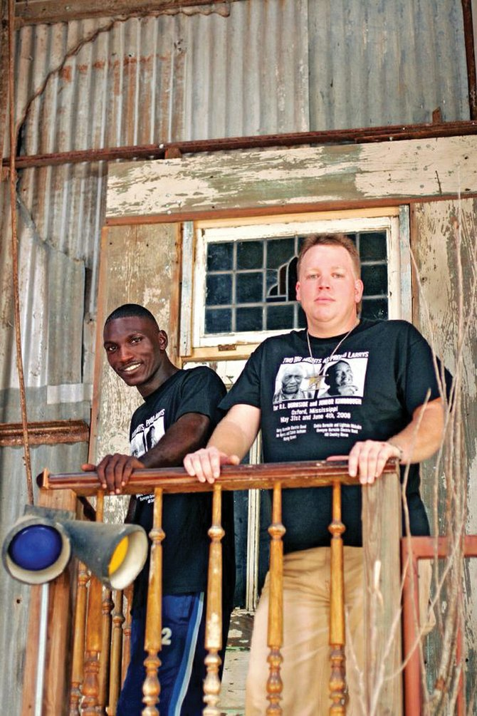 "Cedric Burnside, left, and Steve ""Lighnin'"" Malcolm play at 9:30 p.m. today at Old Town Pub.  Tickets are $5 at the door."