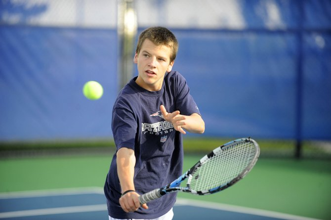 Steamboat Springs High School senior Jack Burger has been juggling cross-county and tennis this fall.