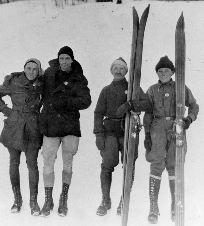 Carl Howelsen, second from right, left an indelible mark on Steamboat Springs and Routt County. A previous winner of the Stanley L. Larson Award, Howelsen will be joined on the list by another former county resident who made substantial contributions to the area.