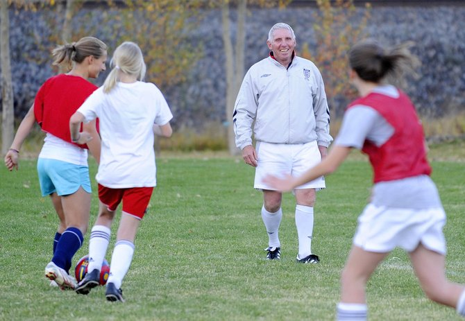 For the past four decades, Tony Roberts has been helping teach coaching clinics throughout England and the world. This is Roberts fourth year coming out in fall and working with Steamboat Springs Youth Soccer Association teams.