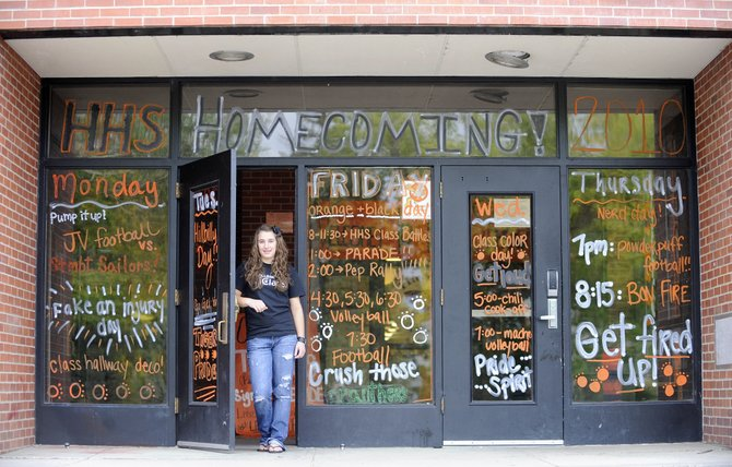 Hayden High School senior student council president Delanie VeDepo has been busy in recent weeks helping organize this week's homecoming events.