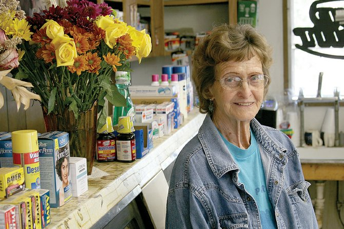 Joy Blevins stands in the Brown's Park Store, which she owns with her husband, Fred, on Oct. 3. In June, the Blevinses reached the 25th anniversary of owning the store, which also includes an RV Park.