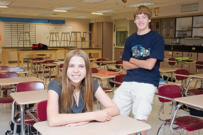 Steamboat Springs High School seniors Kayla Stack and Jeff Sperry are semifinalists for National Merit Scholarships.