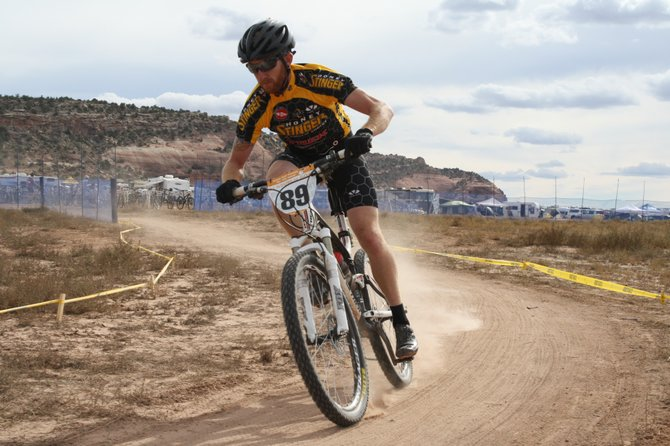 Steamboat Springs rider Nate Bird takes a lap during the 24 Hours of Moab bike race in Utah during the weekend. Bird and his teammate Dax Massey earned a second-place finish in the Pro Duo division. Steamboat's Kris Cannon also finished second in her solo division.