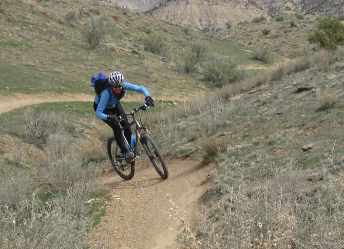 Steamboat Springs resident Johanna Hall tackles some terrain in Fruita.