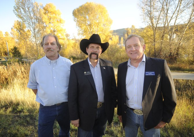 Candidates, from right, Steve Ivancie, Randy Baumgardner and Mike Kien are vying for the Colorado State House District 57 seat.