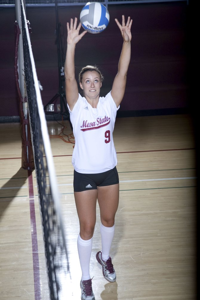 Tara King is wrapping up her redshirt senior season at Mesa State College in Grand Junction. King has become the best setter in the Rocky Mountain Athletic Conference.