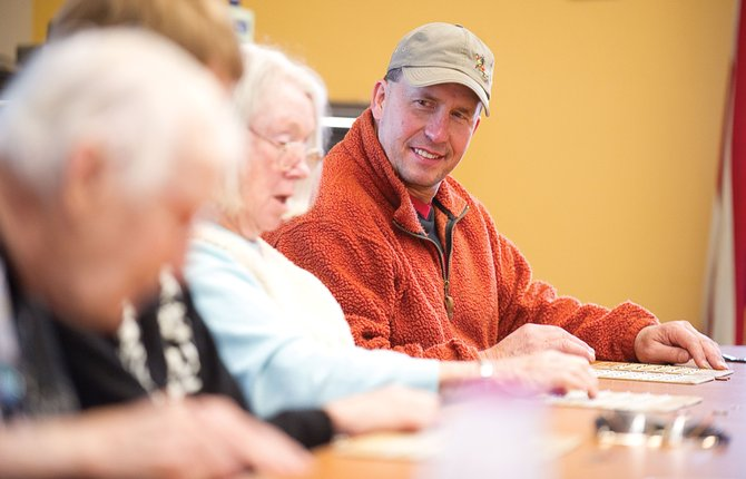 Longtime Steamboat Springs resident Chris Stillwell plays bingo at the Steamboat Springs Community Center.