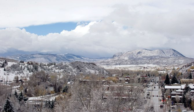 A layer of snow covered the Yampa Valley by the time blue finally broke through the sky above Steamboat Springs on Monday afternoon.