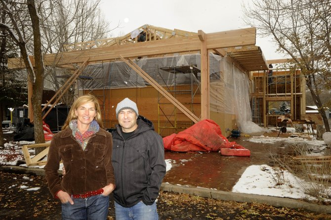 Freshies owners Scott and Kristy Fox are in the midst of a major remodel of their Steamboat business. They plan to have the project done before Thanksgiving.