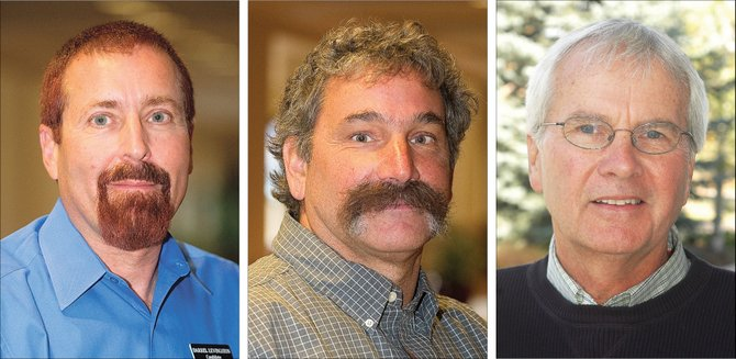 Darrel H. Levingston, left, Kevin P. Nerney and Rob Ryg