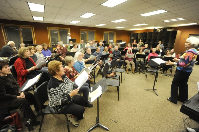 Yampa Valley Singers and Steamboat Chamber Singers rehearse Tuesday night at Steamboat Middle School in preparation for their upcoming concerts 7 p.m. Saturday and 3 p.m. Sunday.
