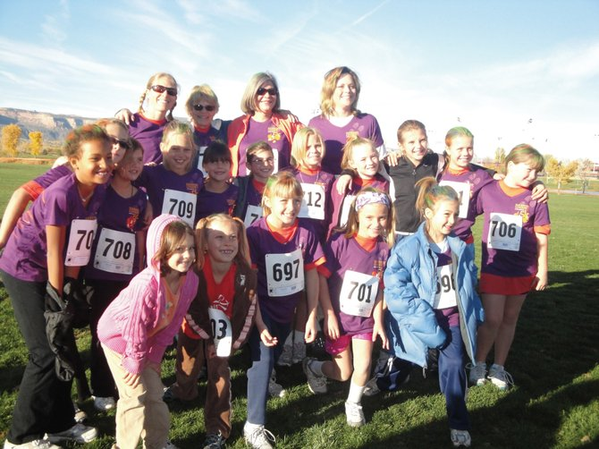 This group of girls from South Routt Elementary School was among the 120 third- through eighth-grade girls in Routt County who participated in the 11th annual Harbert Lumber Fall 5K on Saturday in Grand Junction. It was the culminating event for Girls on the Run, a program that uses the power of running to help prepare girls for a lifetime of healthy living and self-respect, said Soda Creek Elementary School physical education teacher Shannon Casson, who brought the program to Steamboat last year.