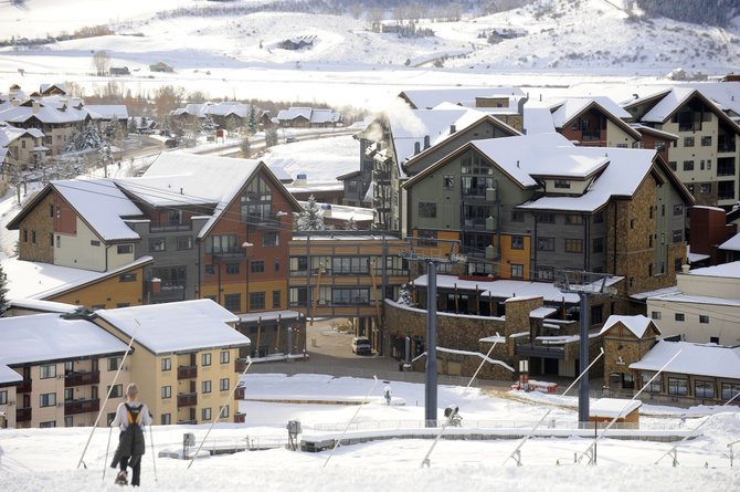 One Steamboat Place at the base of Steamboat Ski Area is in foreclosure, but the developers said they and their investors are confident in their ability to restructure the debt.