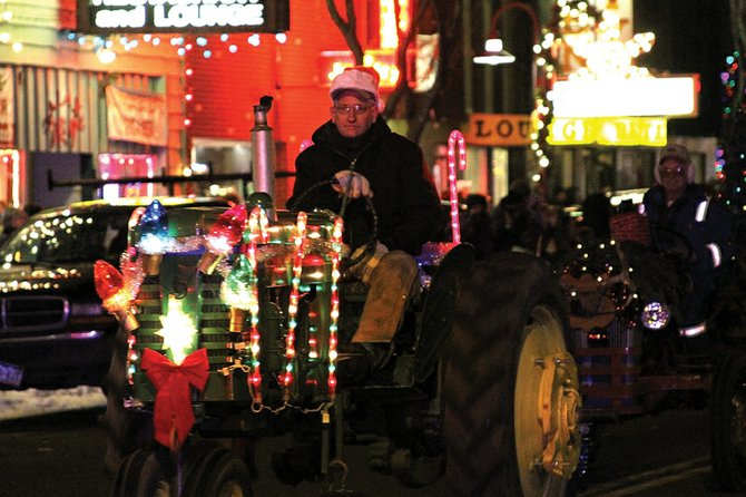 The annual Parade of Lights rolls through downtown Craig on Saturday. The parade featured more than 12 registered floats and was about a 30 minutes long. Downtown Business Association treasurer Carol Wilson estimated about 1,000 residents watched the parade.