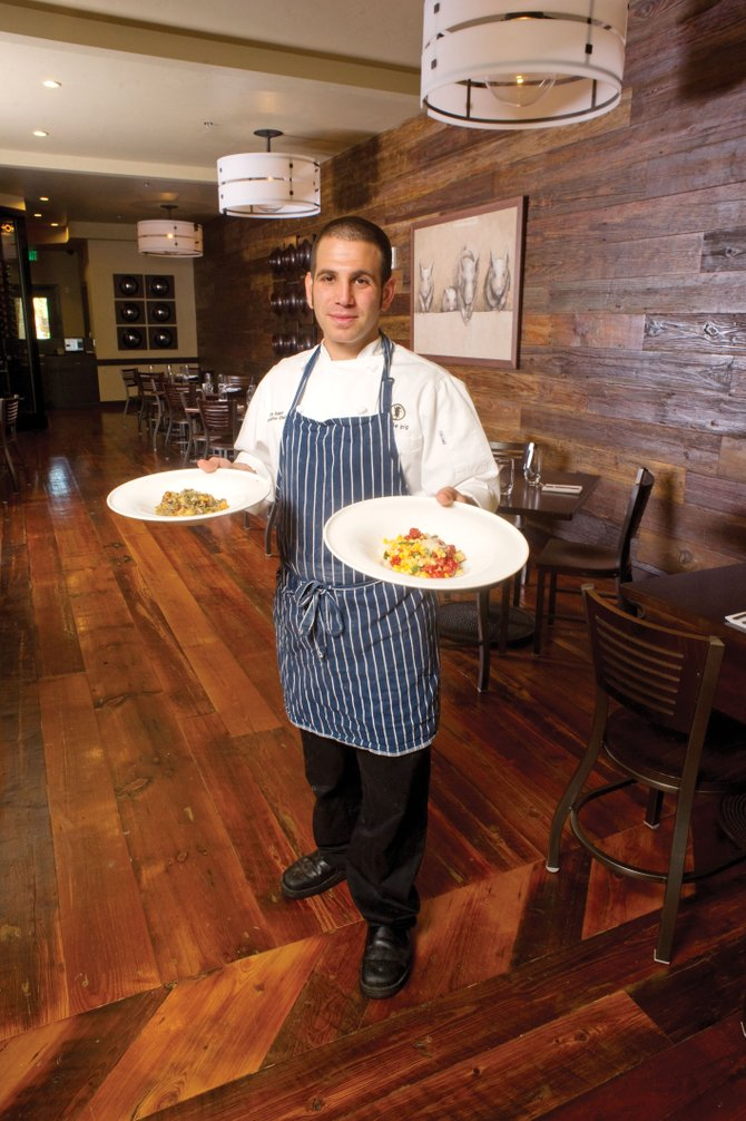 Chef Ezra Duker shows off some of his favorite dishes from Truffle Pig restaurant in One Steamboat Place. Duker took some time with At Home in Steamboat Springs magazine to share one of his recipes.