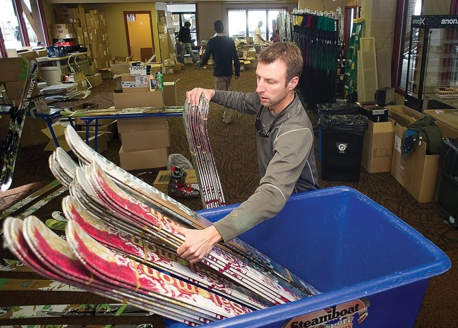 Matt Kaufman is a supervisor for the Steamboat Ski & Sport pro shop at the base of Steamboat Ski Area and is one of the many seasonal employees who are supported by ski season tourism in Steamboat Springs.