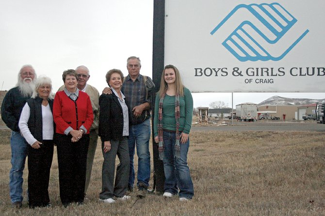 The Boys & Girls Club of Craig's 2010 People of the Year pose for a group photo Friday.  The people of the year are, from left, George and Ann Kidder, Helen and Tom Knez, Paula and Lou Wyman, and Cadi Scott. The winners will be honored tonight during Cowboy Christmas, an annual fundraiser for the Boys & Girls Club, 1324 E. U.S. Highway 40.