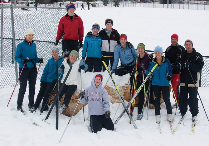 Steamboat Springs High School's cross-country ski team is loaded with talent. The team includes, from left, coach Emily Lovett, Jack Burger, Sarah White, Dane Dixson, Linnea Dixson, Dominique Powers, Martha Anderson, Hannah Barkey, Pichya Nimit, coach Glen Light and coach Pat Gleason. Peter White is kneelng in the front.