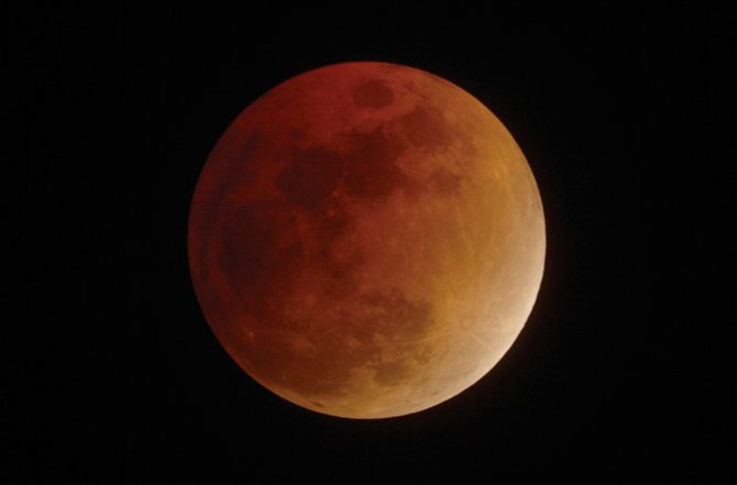 The last time the moon was totally eclipsed for those in Northwest Colorado  was Feb. 20, 2008, as seen in this telescopic image. If you miss the spectacular winter eclipse Monday night, you'll have to wait until April 15, 2014, for your next chance.