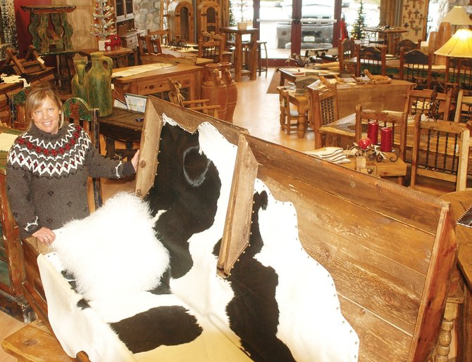 Steamboat Springs entrepreneur Maureen Totman has two businesses that rely on rustic wood products — Hacienda Collection furniture and Trail's End Caskets and Urns.